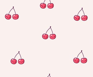 background, cherries, and fruit image