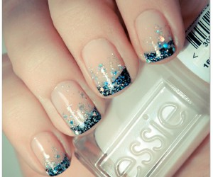 art, blue nails, and ideas image