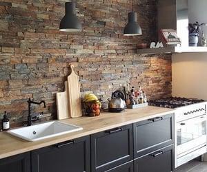 brick wall, loft, and interior image
