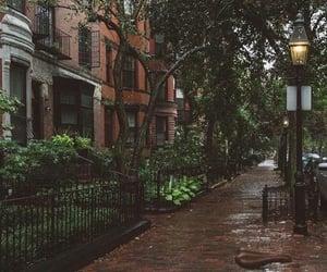 rain, boston, and city image