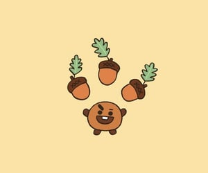 bt21, wallpaper, and shooky image