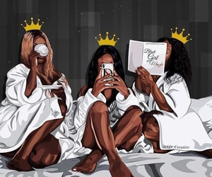 art, black, and crowns image