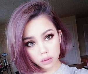 hair, purple, and hairstyle image
