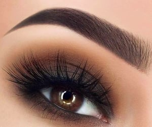 makeup, eyebrows, and eye image