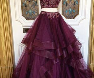 prom gown, 2 piece prom dresses, and 2 piece prom dress image