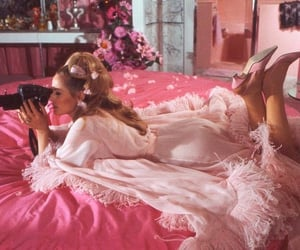 pink, girl, and vintage image