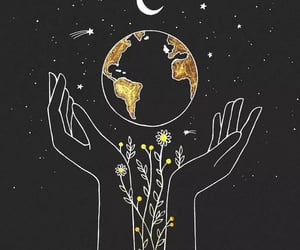 art, black, and earth image