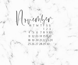 background, calendar, and november image