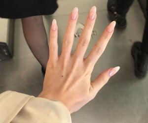 nail, pink, and onfleek image
