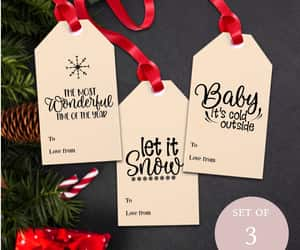 black and white, christmas gift ideas, and diy xmas tags image