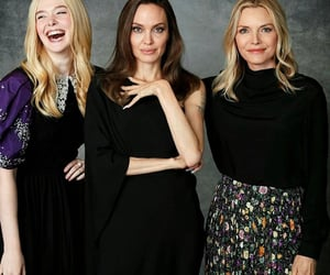 Angelina Jolie, Elle Fanning, and michelle pfeiffer image