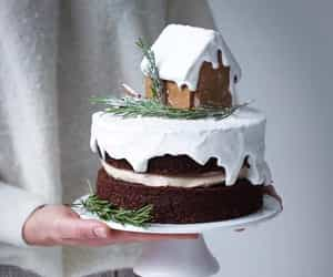 cake, cakes, and gingerbread house image