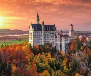 autumn, castle, and magic image