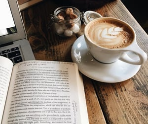 coffee, book, and reading image
