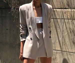 aesthetic, beige, and blazer image