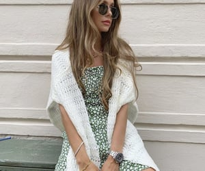 curl, sunglasses, and fashion image