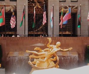 new york, rockefeller center, and new york city image