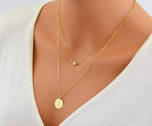 etsy, gold necklace, and personalized image