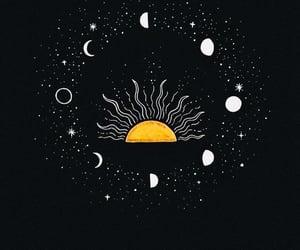 sun, art, and stars image