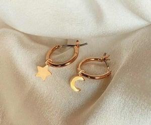 earrings, fashion, and moon image