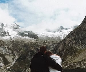 couple, mountains, and Relationship image