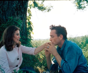 Johnny Cash, couple, and june carter image