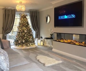 christmas tree, home, and style image
