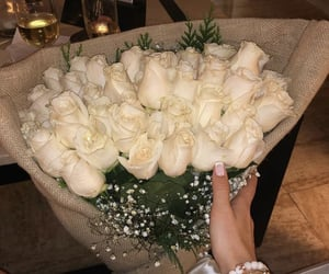 flowers, champagne, and glamorous image