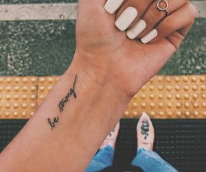 tattoo, nails, and strong image