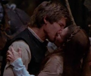 carrie fisher, han, and han solo image