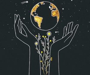 black, earth, and art image