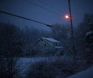 snow, blue, and house image