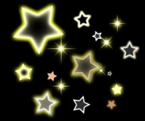 stars, sticker, and yellow image