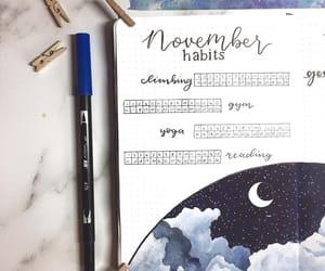 bujo, bullet journal, and habit tracker image