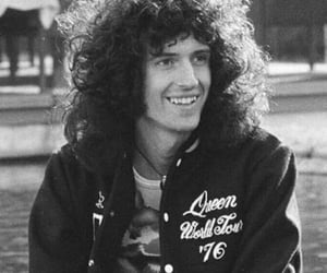 Queen, brian may, and black and white image