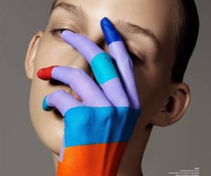 beauty, editorial, and colors image