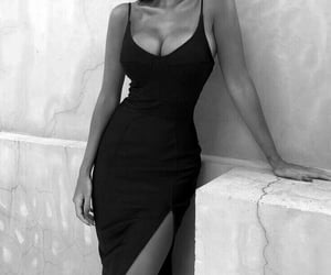 dress, b&w, and black and white image