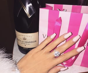 champagne, diamonds, and nails image
