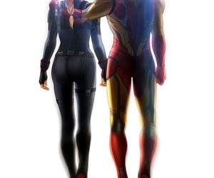 Avengers, black widow, and iron man image