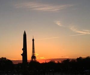 follow, paris, and sunset image