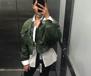 fashion and mirror selfie image