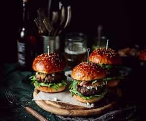 aesthetics, cheeseburger, and drinks image