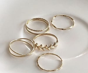 rings, gold, and style image