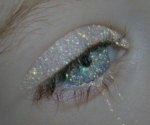 glitter, aesthetic, and eyes image