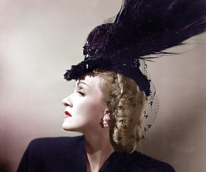 Marlene Dietrich and colorization image