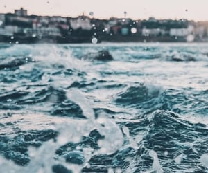 wallpaper, waves, and beach image