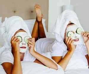 hands and nails mask and puffy eyes mask image