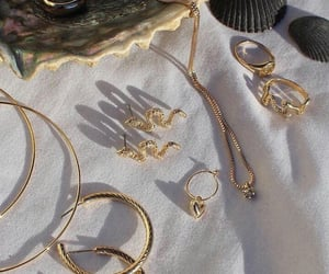 accessoires, earrings, and golden earrings image