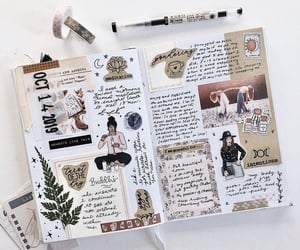 journal, writing, and bujo image