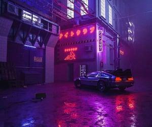 lights, purple, and car image